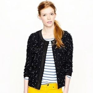 J. Crew Collection Sequin Tweed Ribbon Blazer 4